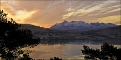 Portree Bay and the Cuillins at dawn