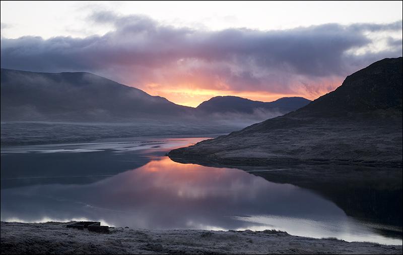 Loch Seaforth red sunrise