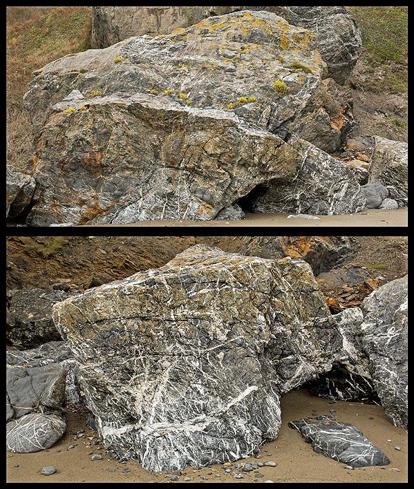 Quartzite - Quartz Veining / Great Perhaver Beach (S22)
