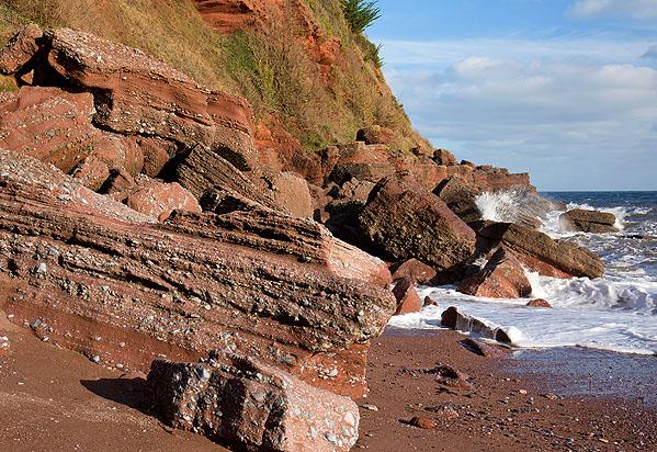 Permian Breccia - Maidencombe Beach