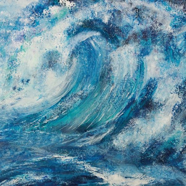 sea, rolling waves, foam, texture, blue, turquoise, energy