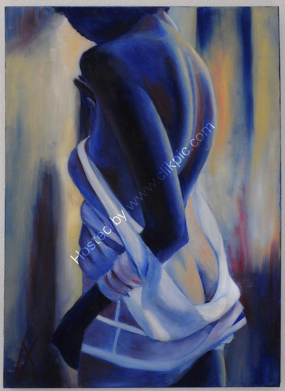 woman, sensuous, sensitive, watching, waiting