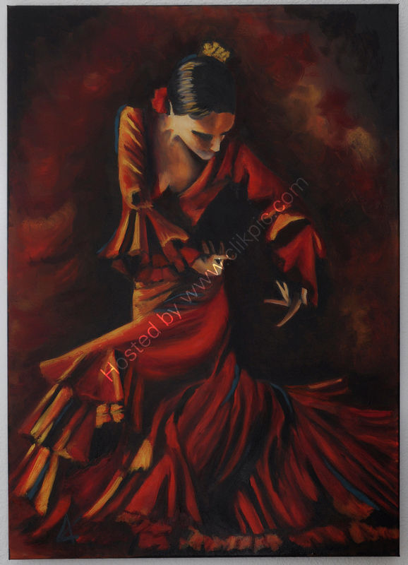 flamenco, woman, drama, movement, intense, red and gold
