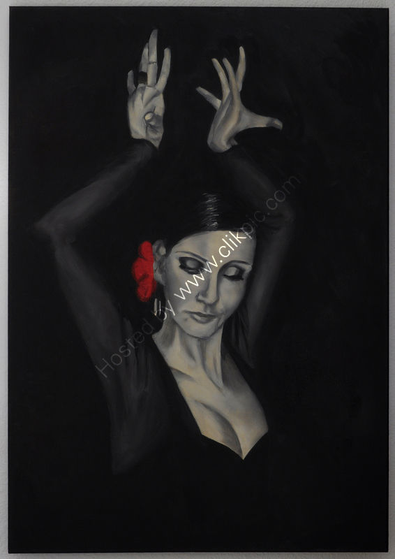 flamenco, woman, monotone, expressive, dramatic