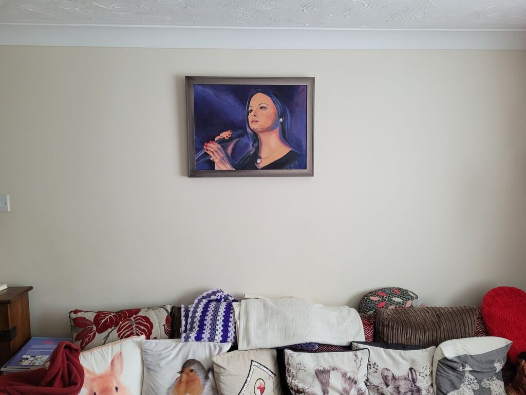 portrait, commission, on the wall