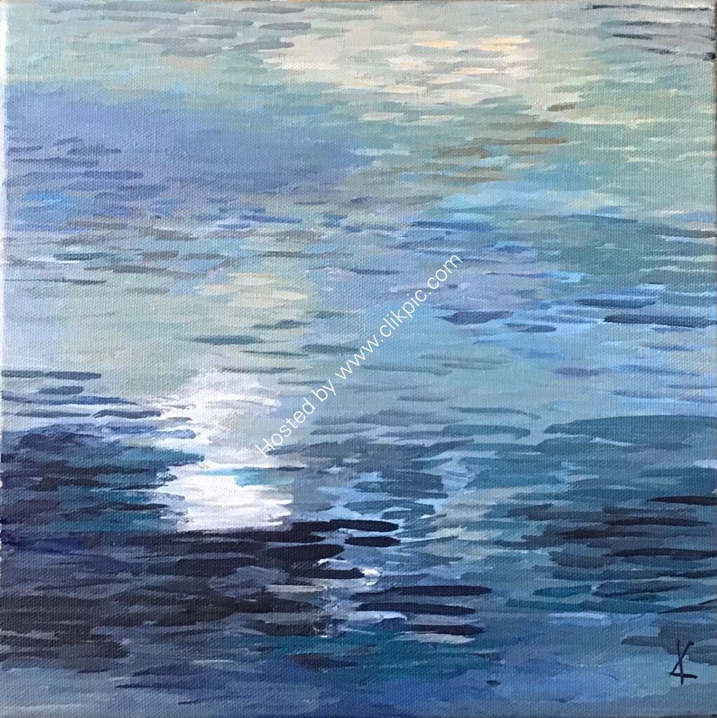 reflections, water, light, ripples, Derwentwater