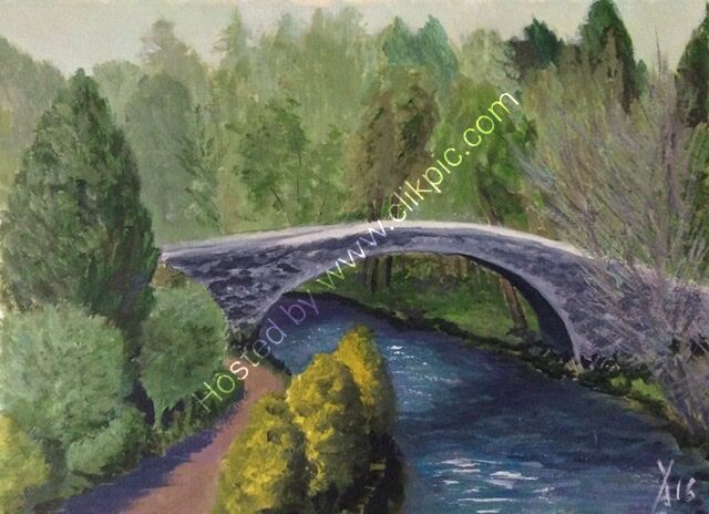 A landscape showing Brig a doon bridge in Scotland