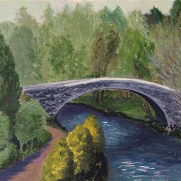 bridge, Scotland, Brig a doon, landscape, river