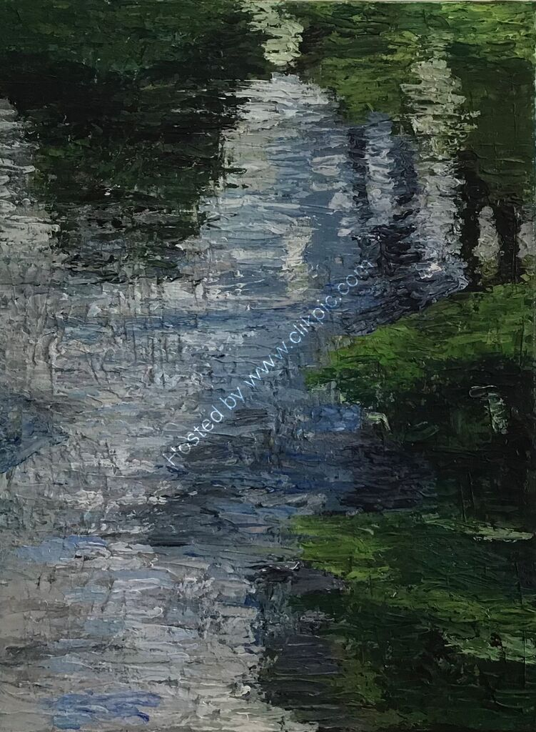 Ripples, reflections, light, water, trees