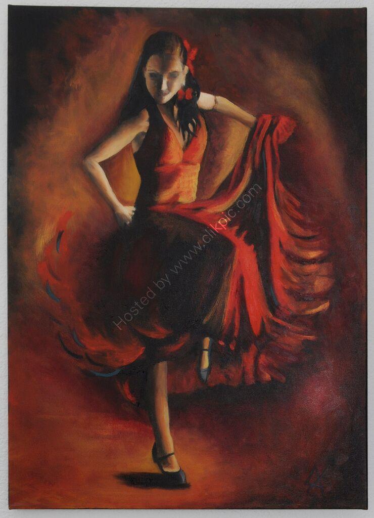 "Art Print ""Flamenco 1"""
