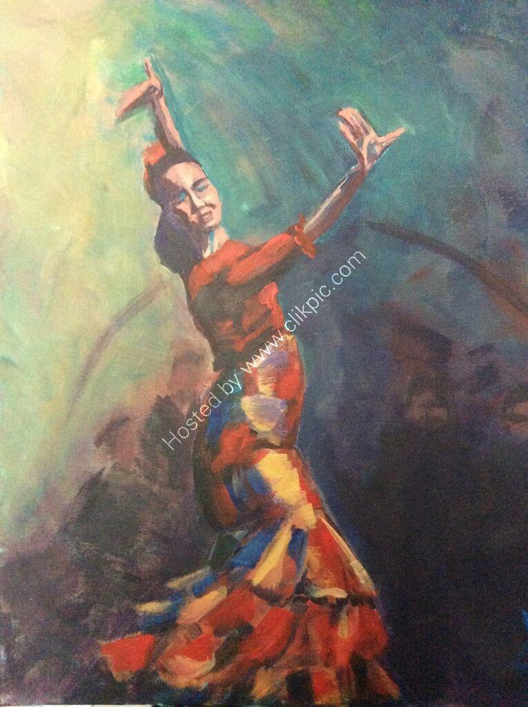 "Art Print ""Flamenco Passion"""
