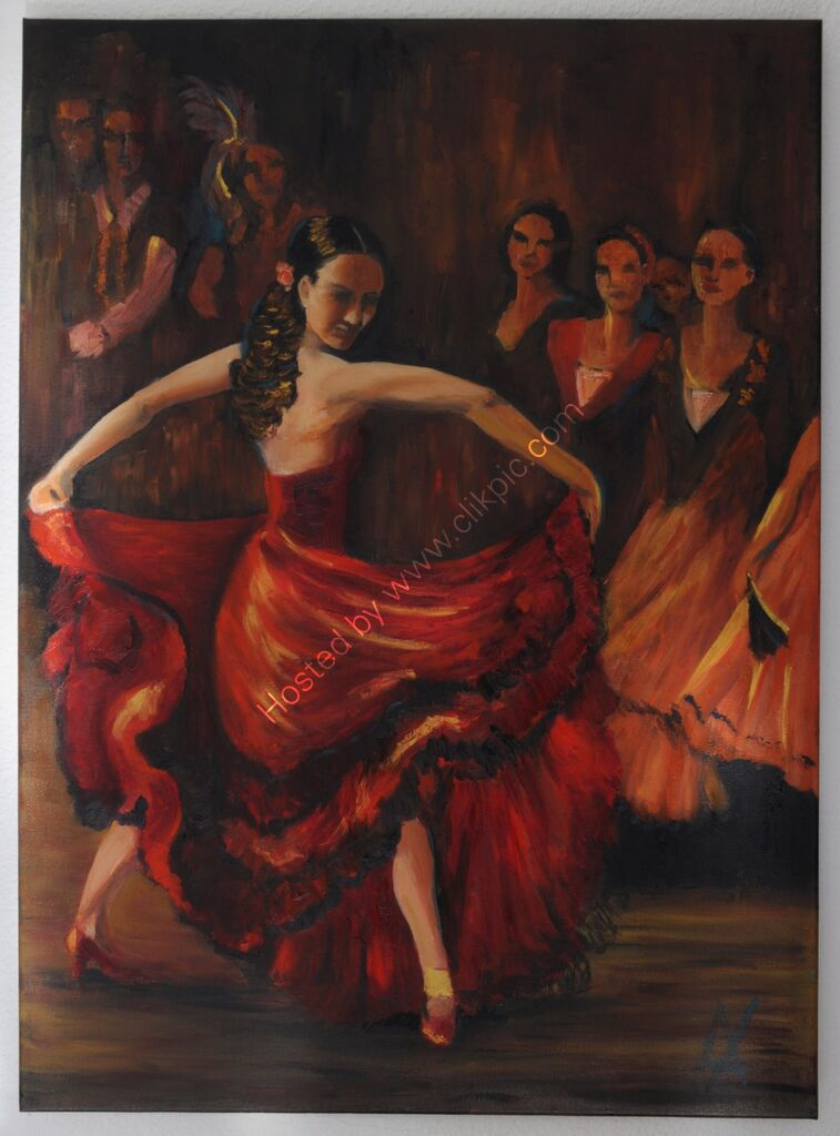 ArtPrint Flamenco 3: a dancer performs at the flamenco club