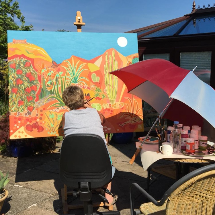 PAINTING THE MONARCHS' GARDEN