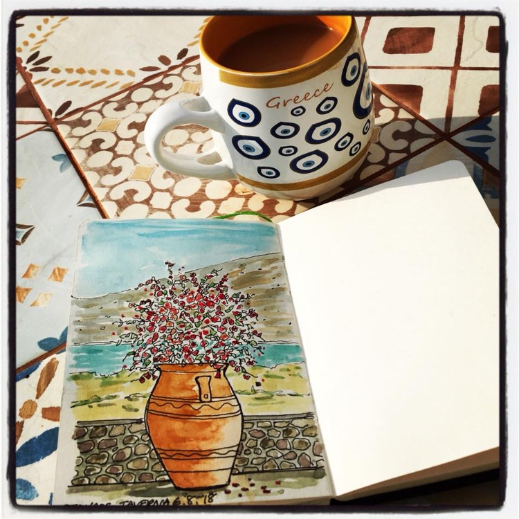 PEN AND WATERCOLOUR SKETCHING IN CRETE