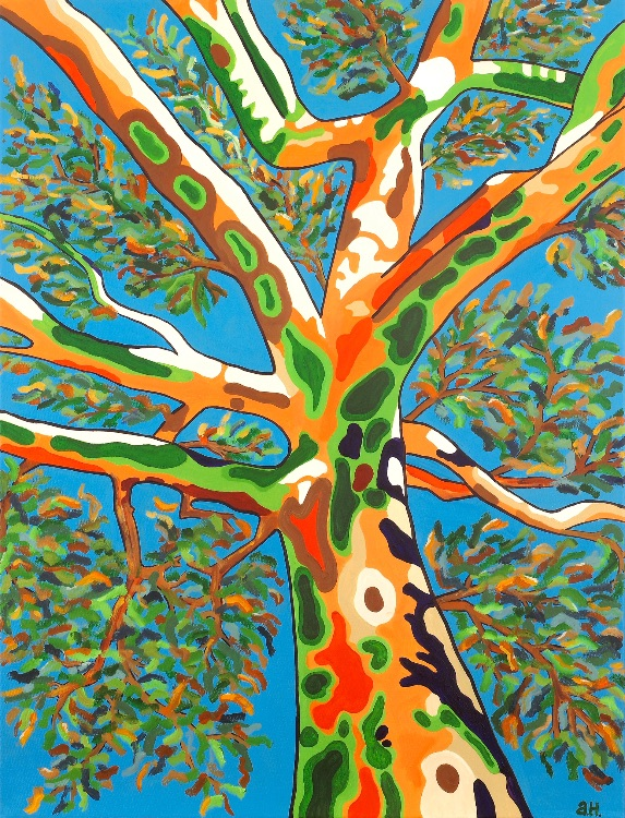 SPIRIT OF THE TREE-ACRYLIC PAINTING ON CANVAS