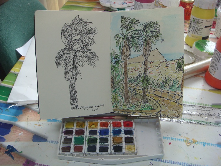 INK AND WATERCOLOUR SKETCHES-TENERIFE