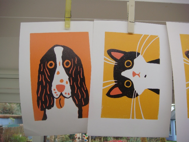 LINOCUTS DRYING