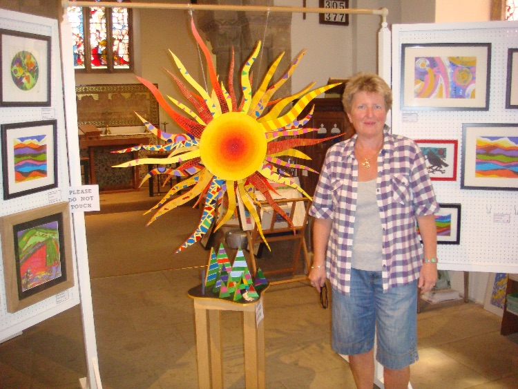 HANGING THE INSTILLATION-UNDER THE SAME SUN AT ST MICHAEL'S ART EXHIBITION
