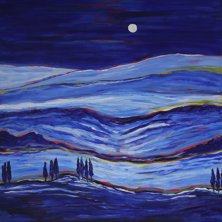 WINTER MOON-ACRYLIC ON CANVAS