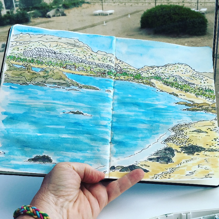 INK AND WATERCOLOUR SKETCH - CRETE