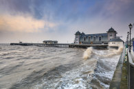 CHOPPY SEA AT PENARTH