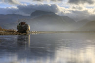 ABANDONED BOAT AND BEN NEVIS (Loch Linnha)