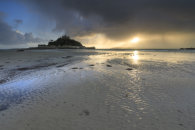 APPROACHING STORM AT SUNSET (St Michael's Mount)
