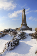 BASSET MONUMENT IN THE SNOW (Carn Brea)