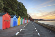 BEACH HUTS AT SUNRISE (Dawlish)