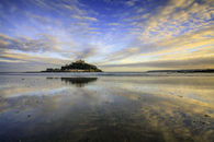BEACH REFLECTIONS AT ST MICHAEL'S MOUNT