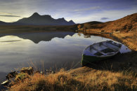 BOAT IN MORNING LIGHT (Loch Hakel)