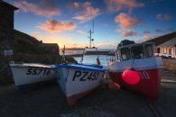 BOATS AT SUNSET (Mullion)