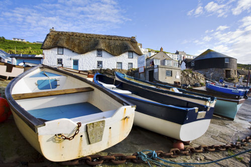 BOATS AT SENNEN COVE