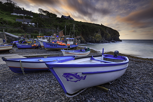 BOATS AT SUNRISE (Cadgwith)
