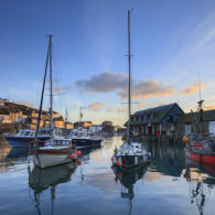COASTER Boats at Sunrise (Mevagissey)