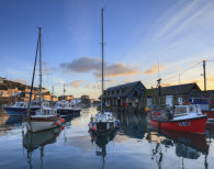 PLACEMAT Boats at Sunrise (Mevagissey)