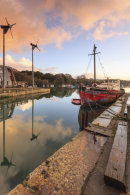 BOATS AT SUNRISE (Penryn)