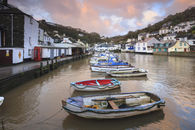 BOATS AT SUNRISE (Polperro)
