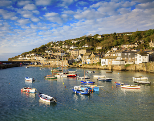 PLACEMAT Boats in Mousehole Harbour