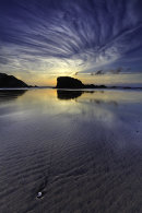 CLOUD PATTERNS OVER PRRANPORTH BEACH