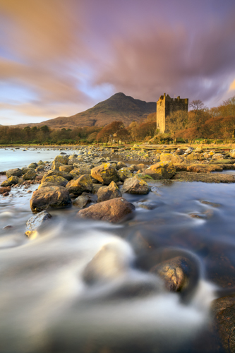 EVENING LIGHT ON MOY CASTLE