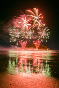 FIREWORKS AT ST MICHAEL'S MOUNT
