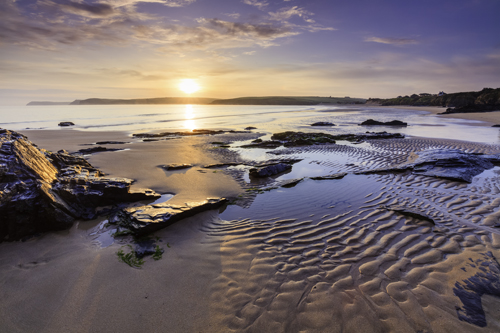 FIRST LIGHT ON HARLYN BEACH