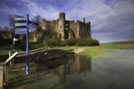 HIGH TIDE AT LAUGHARNE CASTLE