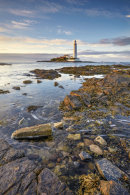 HIGH TIDE AT ST MARY'S LIGHTHOUSE