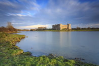 LAST LIGHT AT CAREW CASTLE