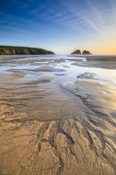 LATE LIGHT AT HOLYWELL BAY