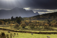 LIGHT SHAFTS OVER BEN LOYAL