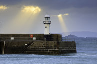 LIGHT SHAFTS OVER SMEATON LIGHTHOUSE (St Ives)