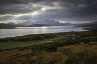 LIGHT SHAFTS OVER KYLE OF TONGUE